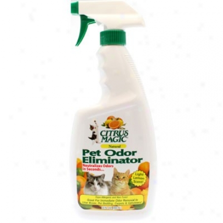Citrus Magic's Pet Odor Eliminator Light Lemon Scent 22oz.