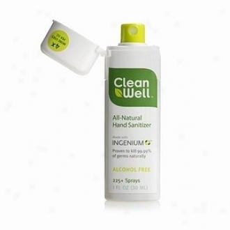 Cleanwell's Hand Sanitizer Spray 1oz