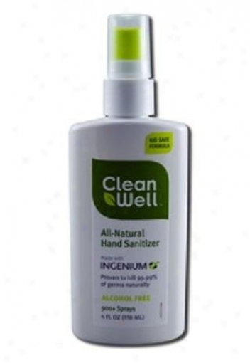 Cleanwell's Hand Sanitizer Spray 4oz