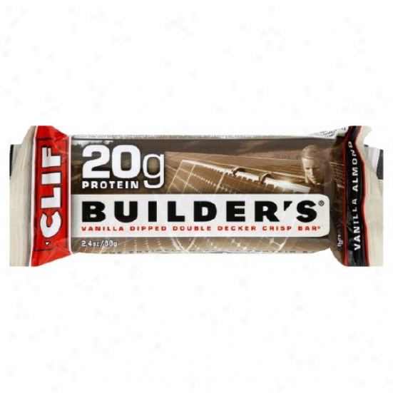 Clif Bar's Builder's Bars Vanilla Almond 12bars/box