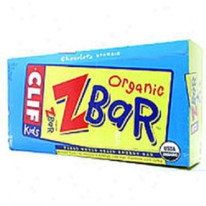 Clif Bar's Zbar Bars For Kids Chocolate Brownie Organic 1.27oz 18bars/box