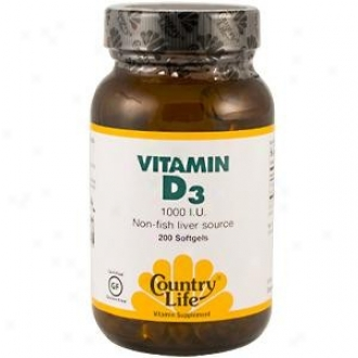 Country Life's Biochem Vitamin D3 1000 I.u. Non-fish Liver Source 200 Sv's