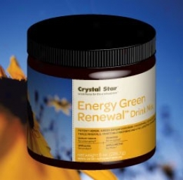 Crystal Star's Energy Green Renewal Drink Mix 8oz