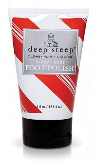 Deep Steep's Candy Mint Foot Polish 4oz