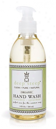 Deep Steep's Honeydew Spearmint Organic Liquid Hand Wash 9oz
