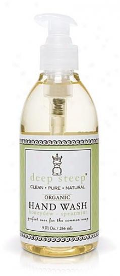 Deep Steep's Honeydew Spearmint Organic Liquid Hand Wash 9oz