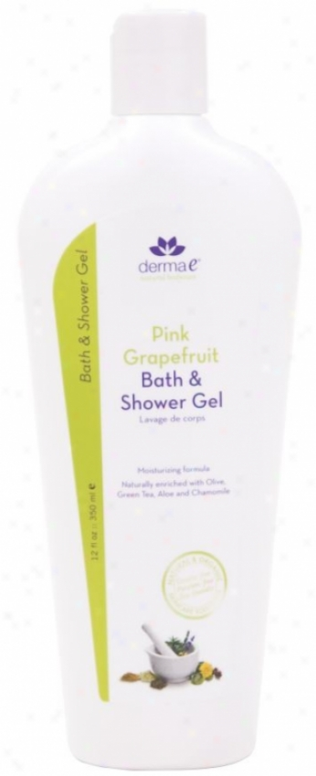 Derma-e's Bath & Shower Gel Pink Grapefruit 12oz