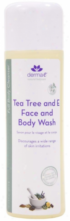 Derma-e's Tea Tree & E BodyW ash 8oz
