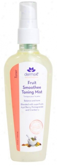 Derma-e's Toning Mist Fruit Smoothde 4oz