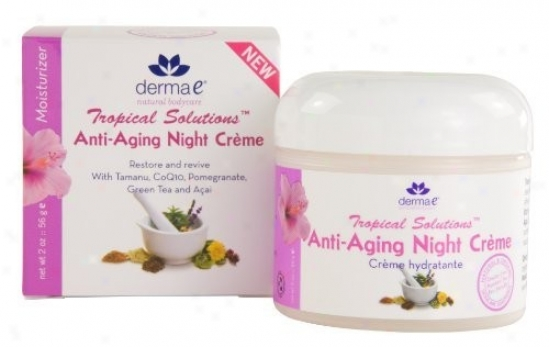 Derma-e's Tropical Solution Night Cream Anti-aging 2oz