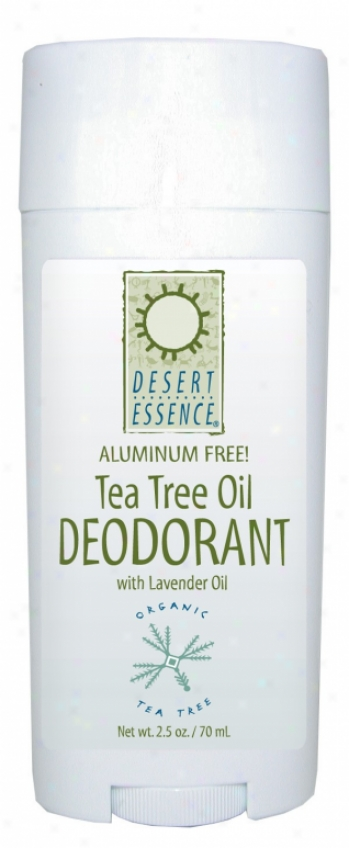 Desert Essence's Deodorant Tea Tree W/ Lavendar 2.5oz
