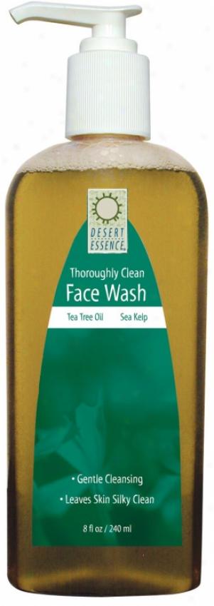 Desert Essence's Face Wash Thoroughly Clena Sea  Kelp 8oz