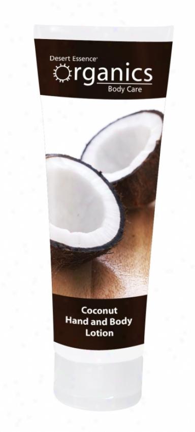 Desert Essence's Hand & Body LotionC oconut 8oz 40%off