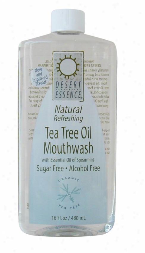 Desert Essence's Tea Tree Oil Mouthwash 16oz