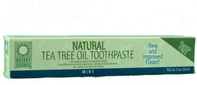 Desert Essene's Tea Tree Toothpaste W/ Mint 7oz 40%off