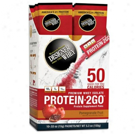 Designer Protein's Protein-2go Whey Protein Pomegranate Fruit 10pkts