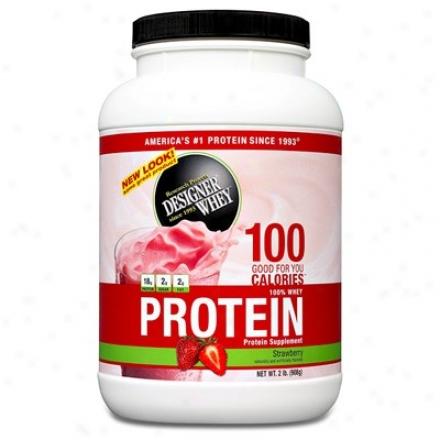 Designer Protein's Whey Protein Strawberry Powder 2lb
