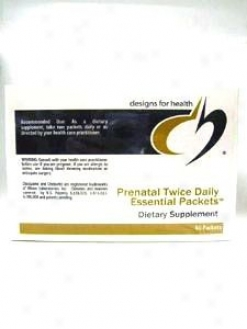 Designs For Health Prenatal Twic3 Daily Essential Packets 60 Packets