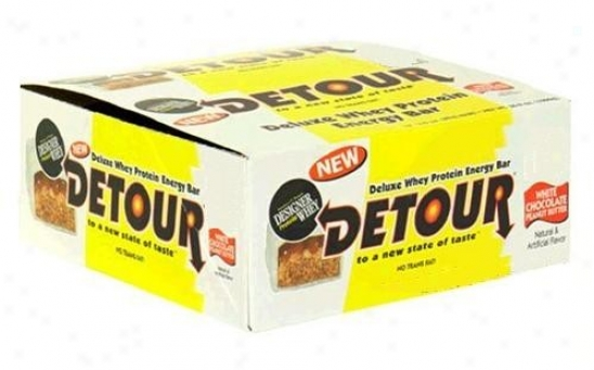 Detour's Original White Chocolate Peanut Butter Protein Bars 43gm 15/box