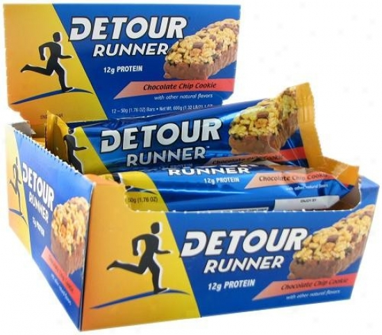 Detlur's Runner Bar Chocolate Chip 50gm 12/box