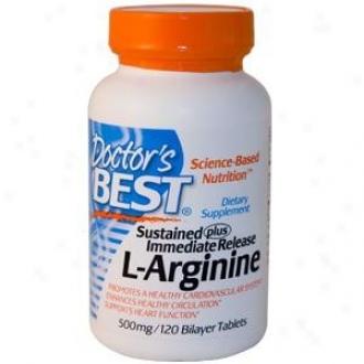 Doctor's Best's L-arginine 500mg 120tabs