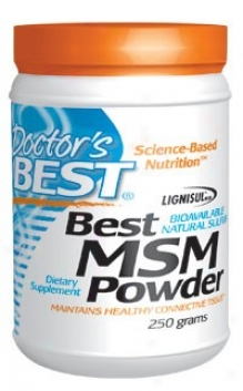 Doctor's Best's Msm Powder (1/4tsp=1000mg) 250gm
