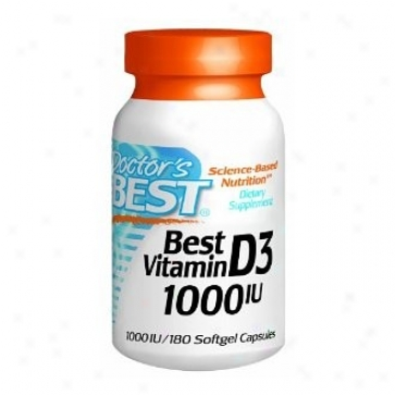 Doctor's Best's Vitamin D3 1000iu 180sg