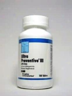 Douglas Lab's Ultra Preventive Iii W/ Fe 180 Tabs