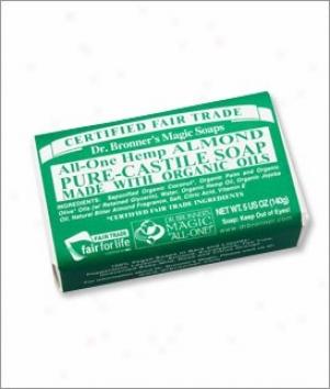 Dr. Bronner's Alnond Castile Bar Soap 5oz