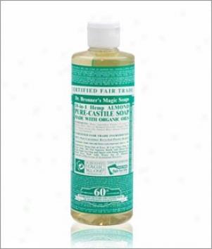 Dr. Bronner's Almond Pure Castile Liqiid Soap 16oz