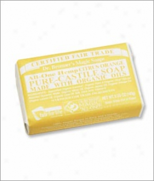 Dr. Bronner's Lemon Pure Castile Bar Soap 5oz