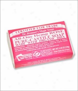 Dr. Bronner's Rose Pure Castile Bar Soap 5oz