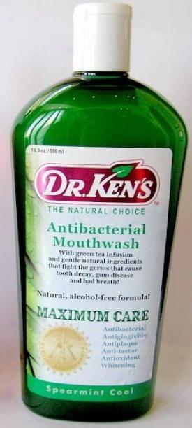 Dr. Ken's Antibacterial Mouthwash Spearmint - 16 Oz.