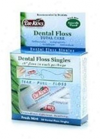 Dr. Ken's Dental Gliding Floss Singles Fresh Mint 30pkts