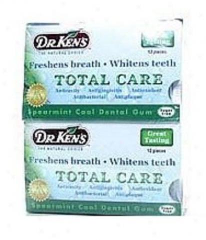 Dr. Ken's Oral Care Cinnamon Fresh Dental Gum 12pcs