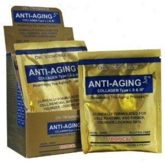 Dr. Venessa's Anti-aging 3 Collagen Drink Tropical Travel 7pkts
