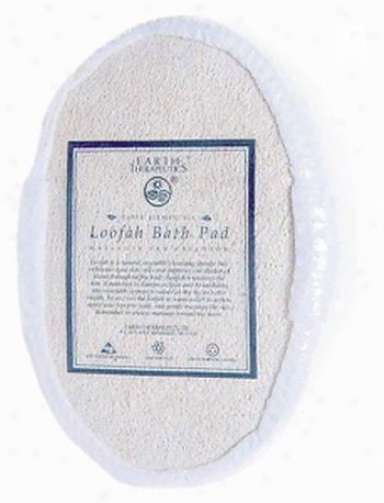 Earth Therapeutics Loofah Oval Terry Puff Pad