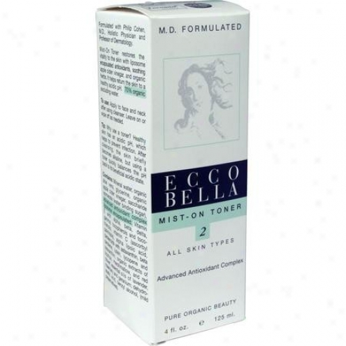 Ecco Bella's M.d. Formulated Skin Care, Mist-on Toner 4oz