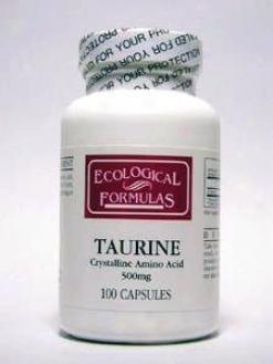Ecological Formula's L-taurine 500 Mg 100 Caps