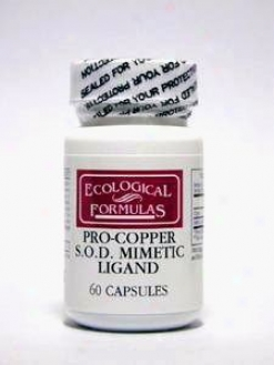 Ecokogical Formula's Pro-copper 4 Mg 60 Caps