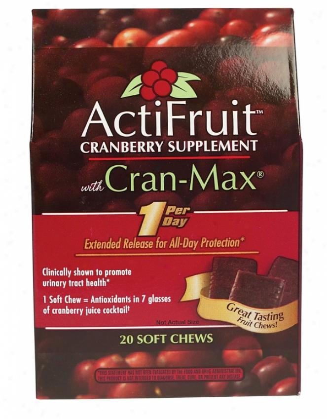 Enzymatic's Actifruitã¿â¿â¾ Cranberry Suppplement W/ Cran-maxã¿â¿â¾ Chew 20tabs