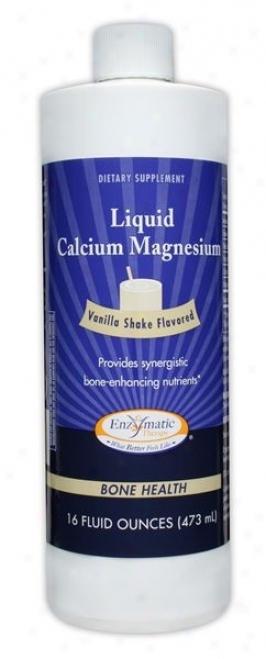 Enzymatic's Liquid Calcium Magnesium Vanilla Flav 16 Fl Oz