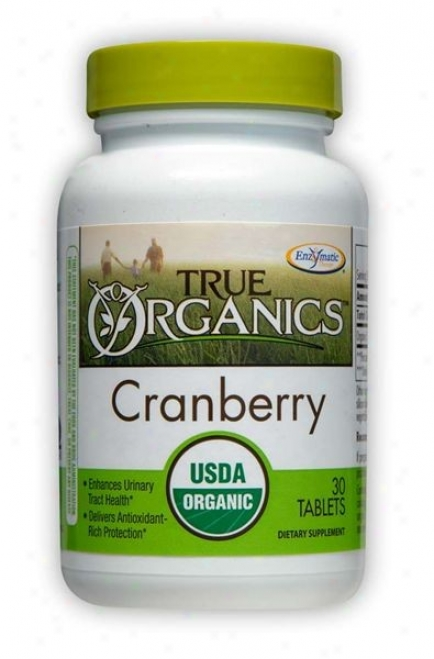 Enzymatic's True Organic's Cranberry 30tabs