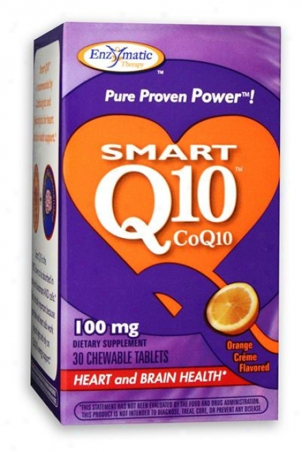 Enzymqtic's Vitaline Smart Q10 Orange Creme 100mg 30tabs
