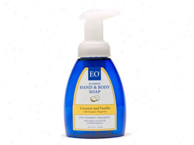 Eo's Foaming Hand & Body Soap Coconut & Van 8.5oz