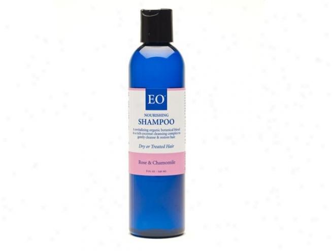 Eo's Shampoo Rose & Chamomile Gentle & Moisturizing Nrml-dry Hair 8oz