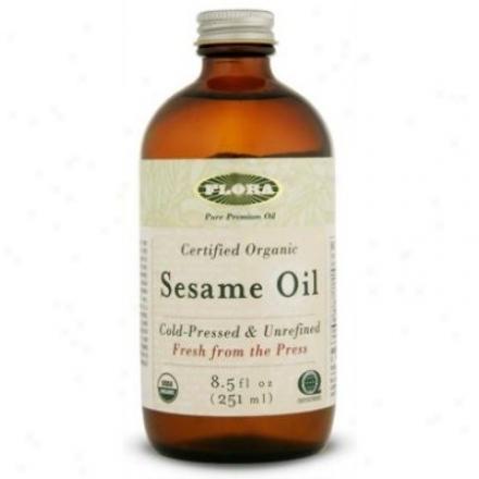 Fpora's Sesame Oil Certified Organic 8.5oz