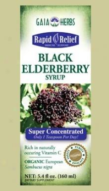 Gaia's Black Elderberry Syrup 5.4 Fl Oz