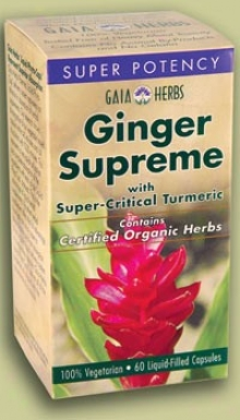 Gaia's Ginger Supreme W/ Tutmeric Super Potency 30caps