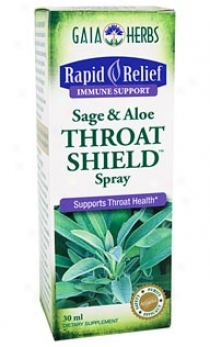 Gaia's Rapid Relief Sage & Aloe Throat Shield Spray 1oz